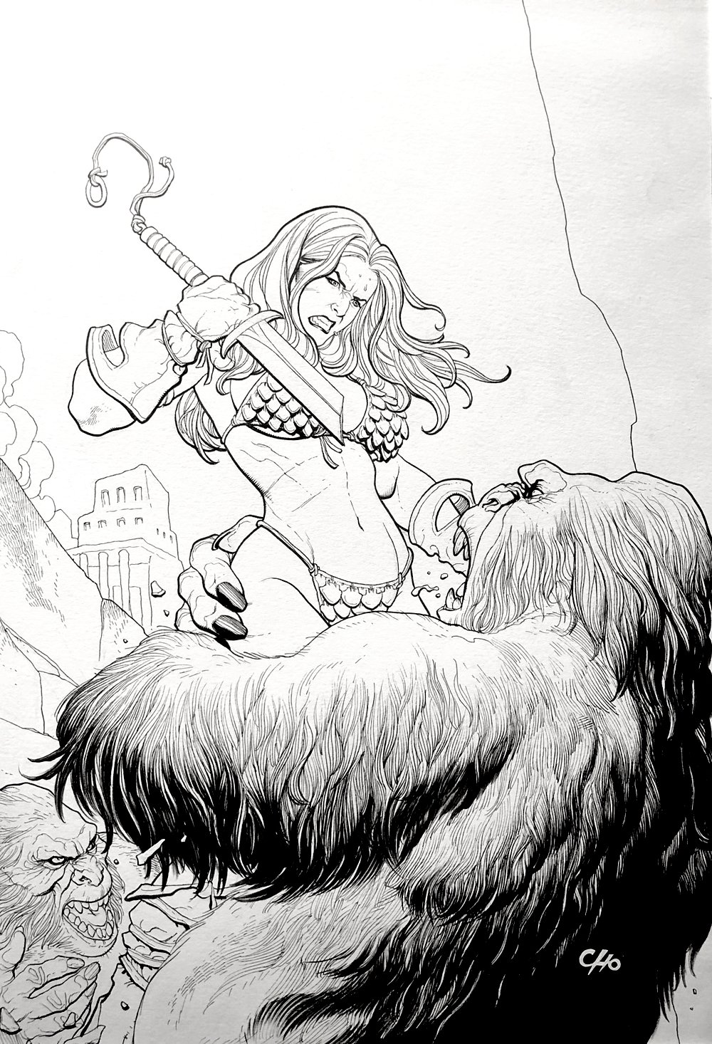 Savage Red Sonja #3 Cover (Very Large) 2006