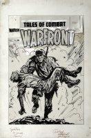 Warfront #29 Un-Published Cover (Oversized) 1956 Comic Art
