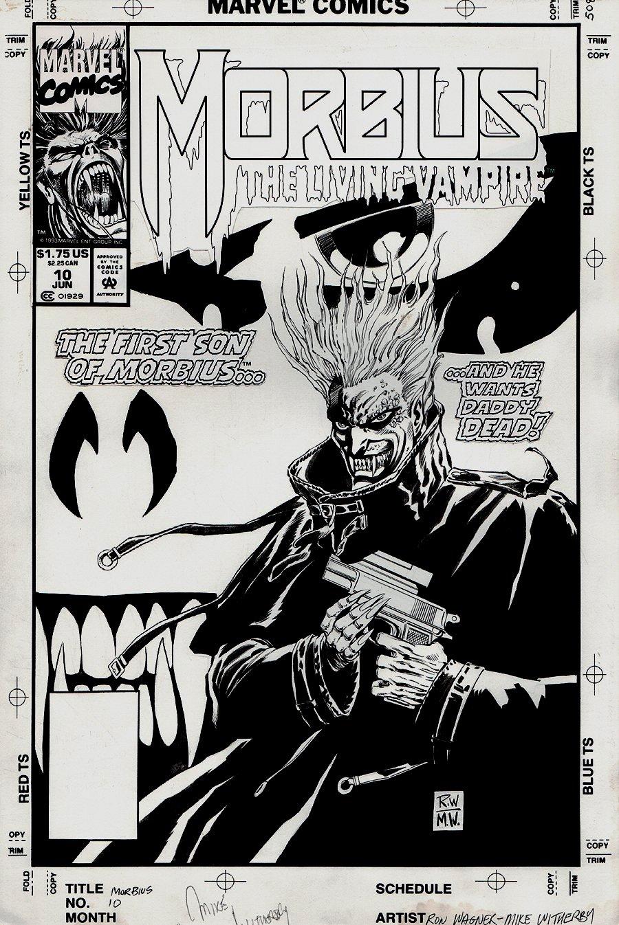 Morbius: The Living Vampire #10 Cover (1993)
