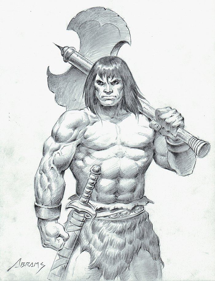 Conan Detailed Pencil Pinup