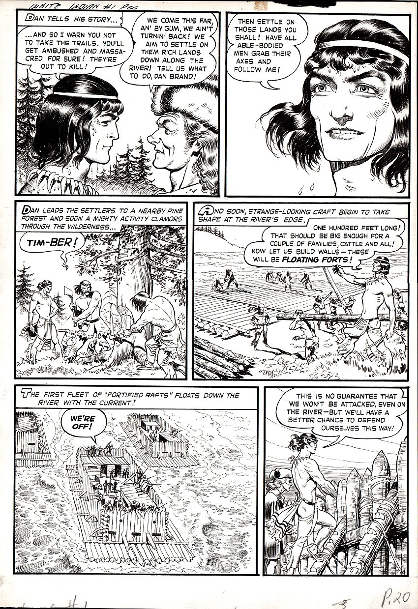 White Indian #11 (#1) p 4 (Large Art) 1953