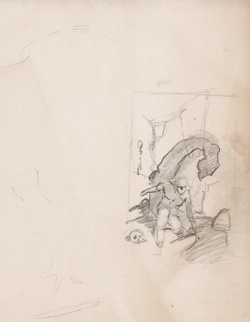 'Conan the Usurper' Prelim Cover Pencils by Robert E. Howard