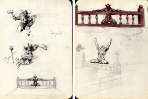 CONAN THE DESTROYER Preliminary For Painting Plus Extras! (OVER 18 YEARS OLD TO VIEW) Page Pinup (1971) Comic Art