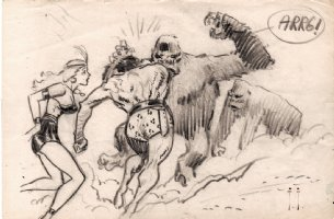 'Son Of Tarzan' Cover Prelim (1963) Comic Art