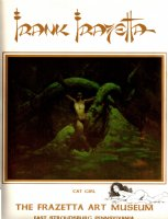 Frank Frazetta Limited Edition Litho (With an Original Nude CAT-GIRL Drawing) Comic Art