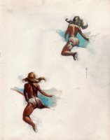 'Wildride' Nude 2 Babe Study For Famous Painting (1970s) Comic Art