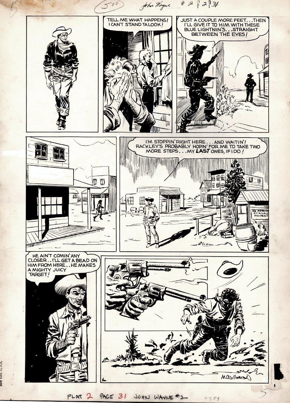John Wayne Adventure Comics #2 p 31 (Large Art) 1950
