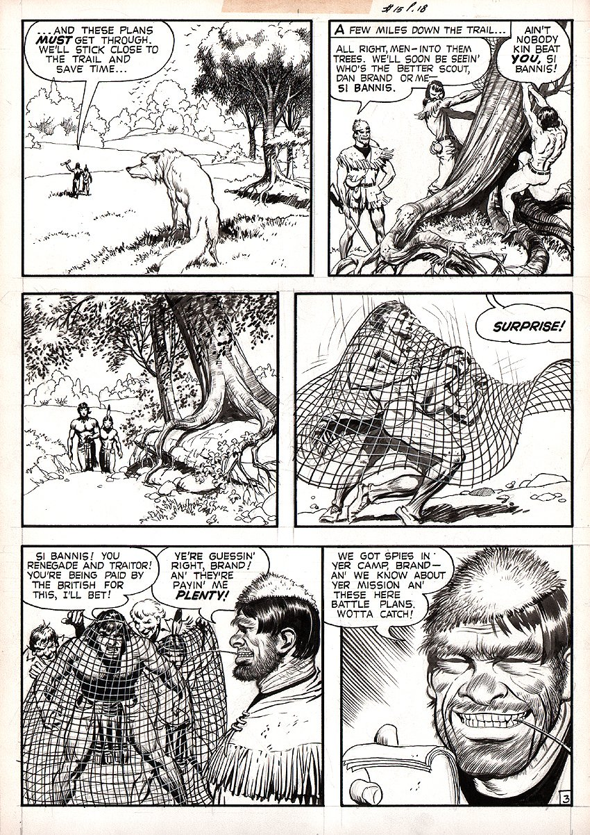 White Indian #13 p 3 (Large Art) 1954