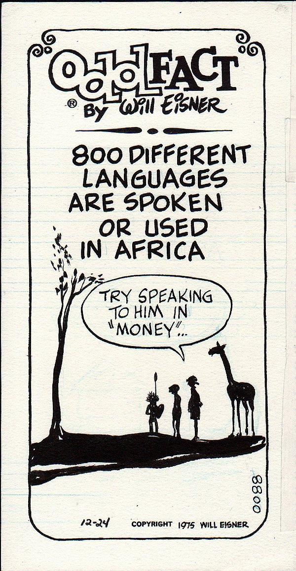 Odd Fact Newspaper Strip By Will Eisner - 12-24-1975