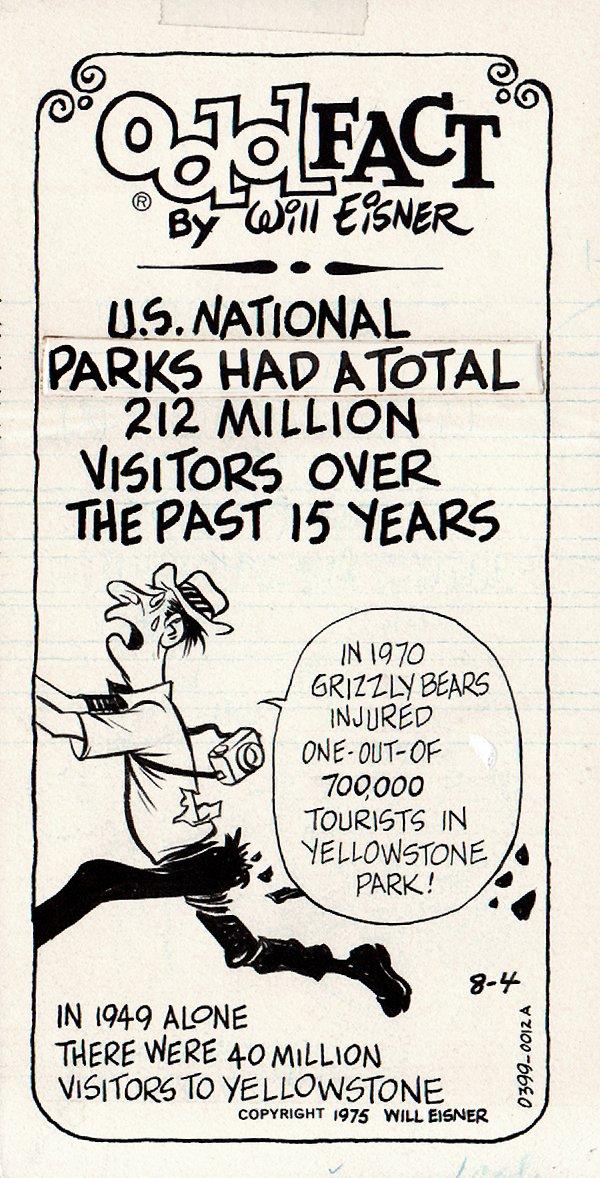 Odd Fact Newspaper Strip By Will Eisner - 8-4-1975