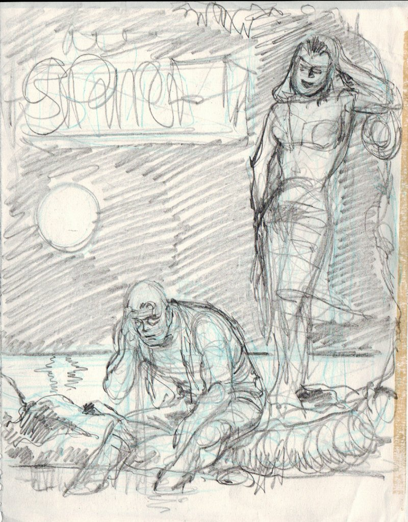 The Spirit #54 Prelim Cover (1988)