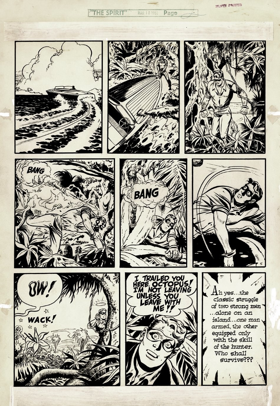 The Spirit Sunday Section Page 2 (Large Art) 3/18/1951
