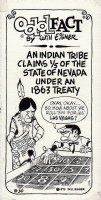 Odd Fact Newspaper Strip By Will Eisner - 8-30-1975 Comic Art