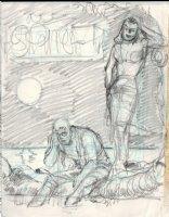 The Spirit Prelim Poster Comic Art
