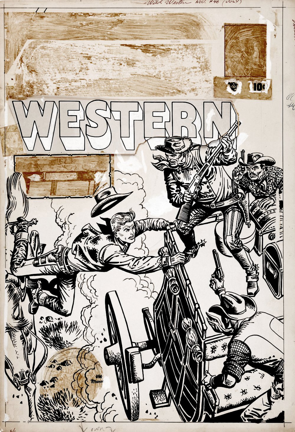Wild Western #46 GOLDEN AGE MARVEL COMICS Cover (Large Art) 1955