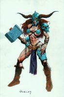 Sexy Warrior Babe Illustration Comic Art