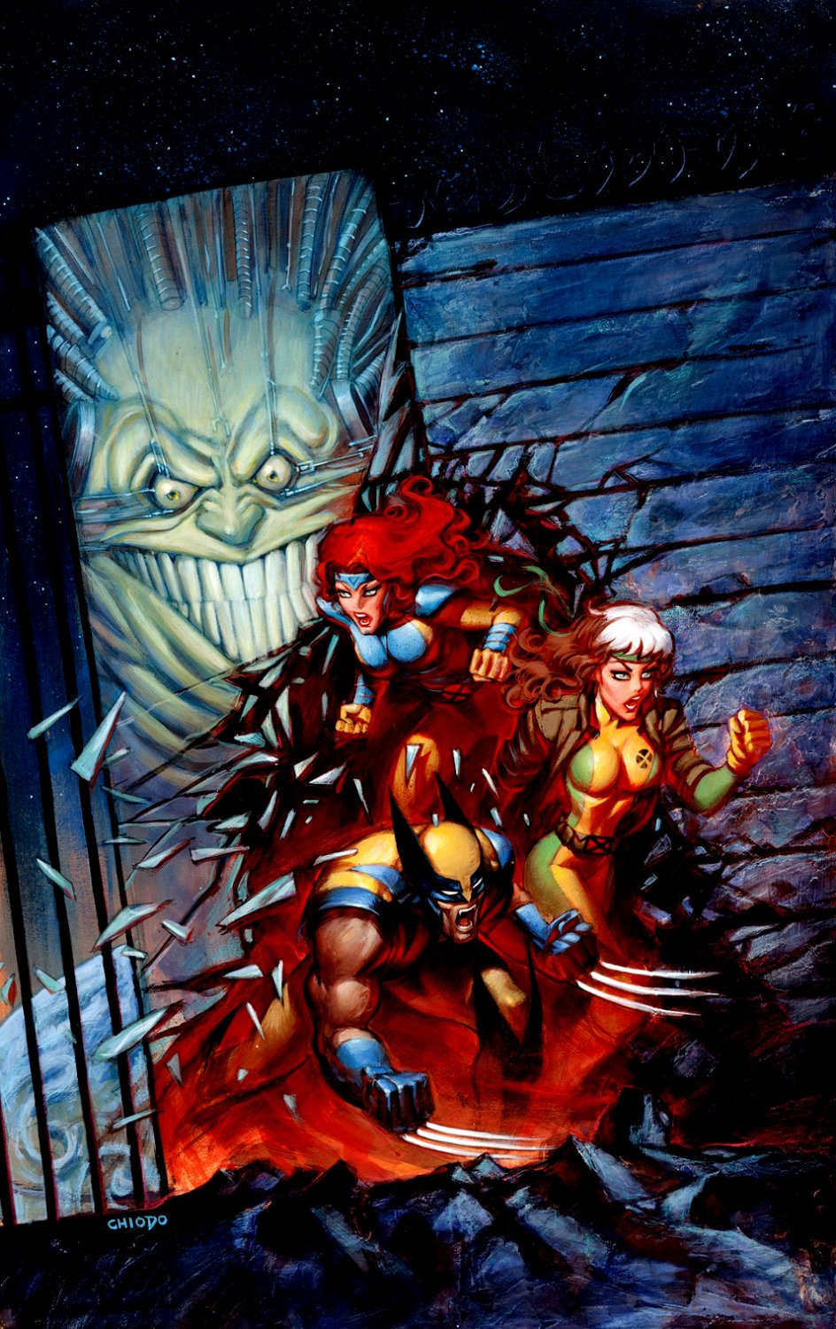 X-Men: Prisoner X Trade Paperback Cover Painting (1998)