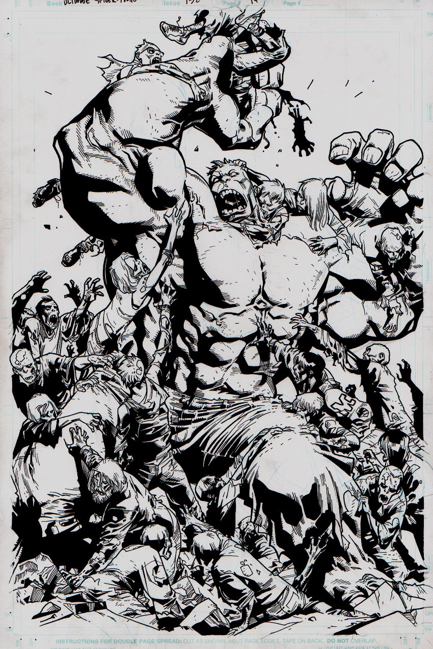 Ultimate Spider-Man #132 p 14 HULK SMASH SPLASH (2009)