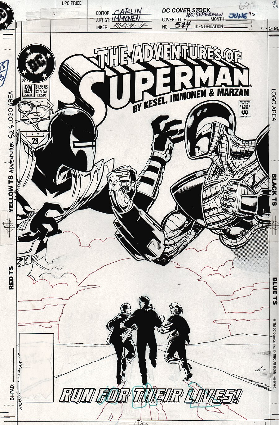 Adventures of Superman #524 Cover (1995)