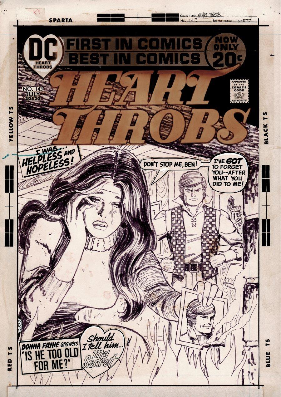 Heart Throbs #143 Cover (1972)