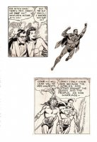 3 Superman Panels From A 1949 Superman Sunday Strip Comic Art