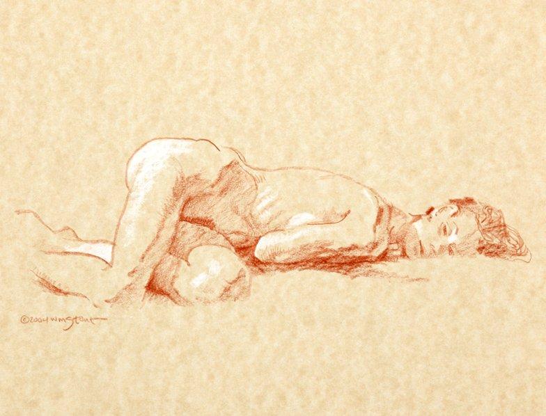Nude Female Figure Drawing (2004)