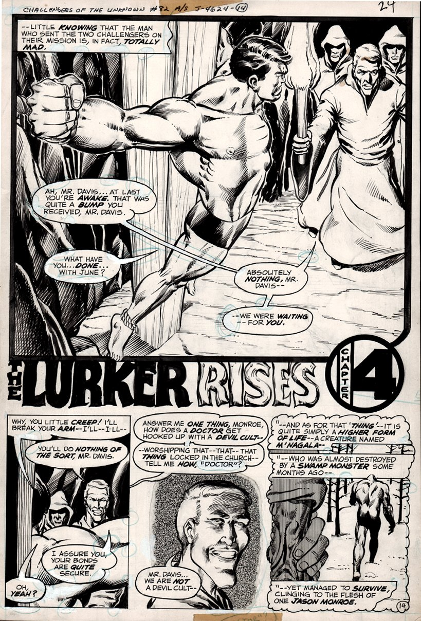 Challengers of the Unknown #82 p 14 SPLASH (1977)