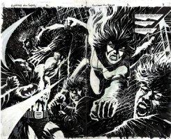 Huntress #2 p 2-3 Double Spread BATMAN Splash (1994) Comic Art