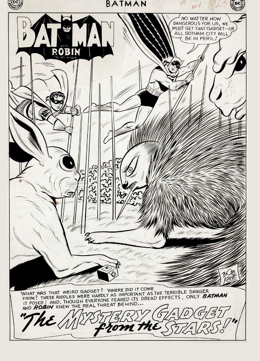 Batman #151 p 1 SPLASH (Large Art) 1962