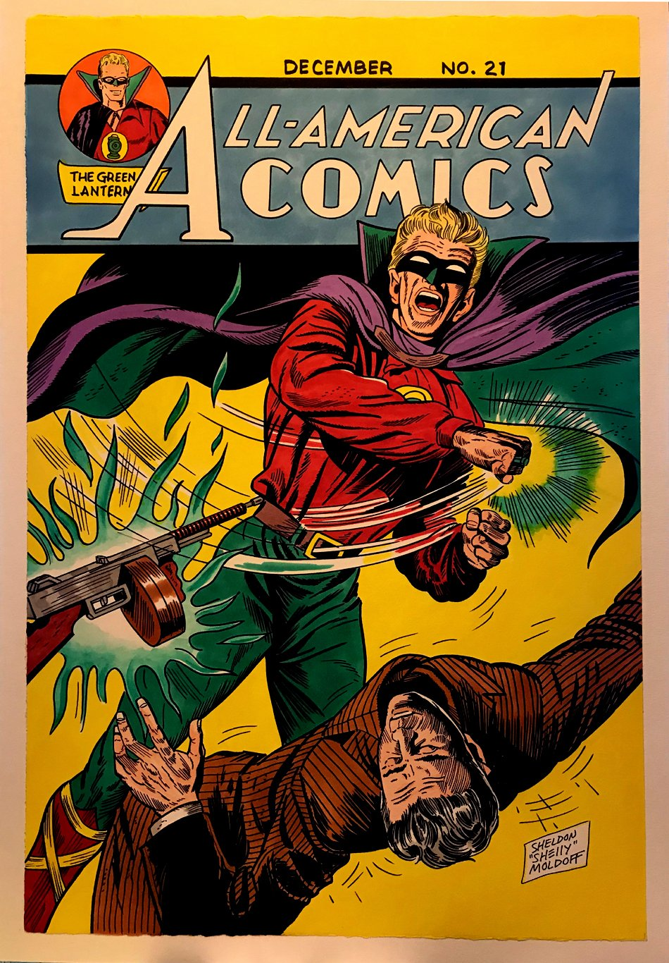 All-American Comics #21 Cover Recreation (1990s)