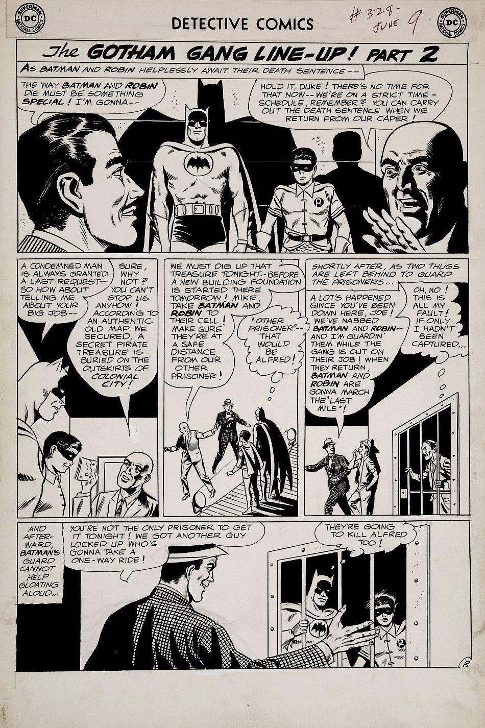 Detective Comics #328 p 8 (COVER SCENE!) Large Art - 1964