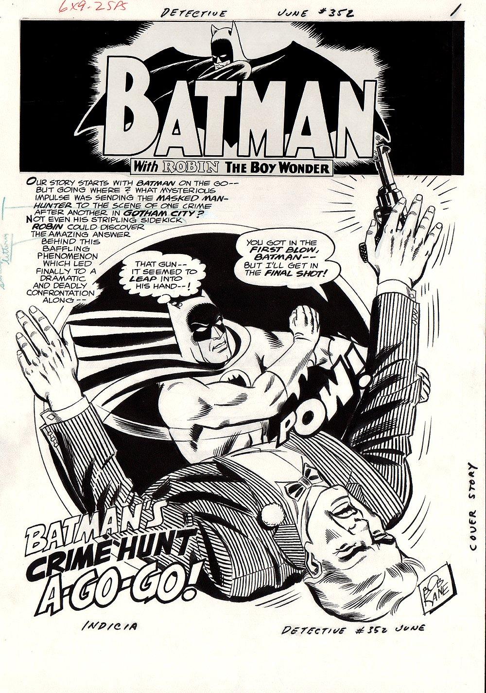 Detective Comics #352 p 1 SPLASH (Large Art) 1966