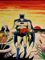 Batman #156 Cover Recreation (Large) 1991 Comic Art