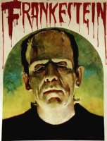 FRANKENSTEIN Acrylic Cover Painting (HUGE) 1974 Comic Art