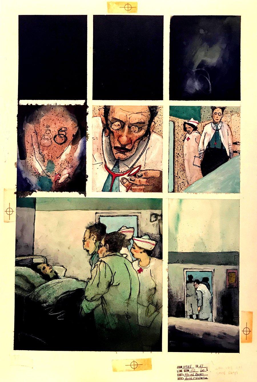 Havok & Wolverine - Meltdown #1 p 37 Painted Page (1988)