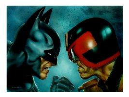 Batman Vs. Judge Dredd Painting Comic Art