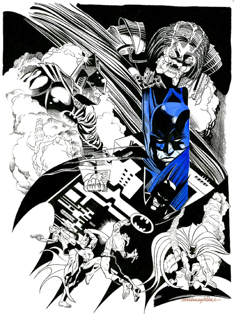 Batman vs. Predator Illustration (Large Art)