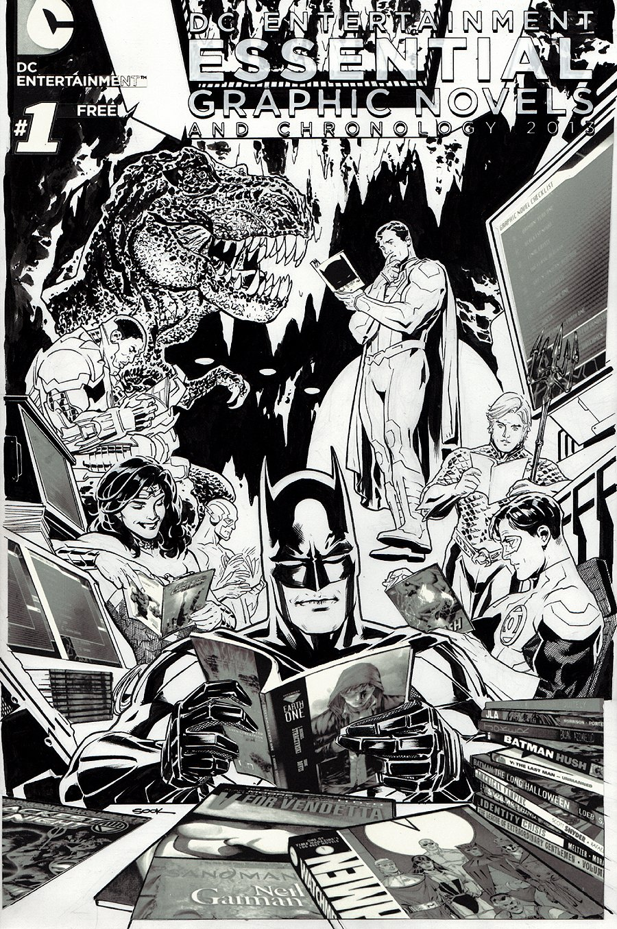 DC Entertainment Essential Graphic Novels And Chronology Cover (2013)