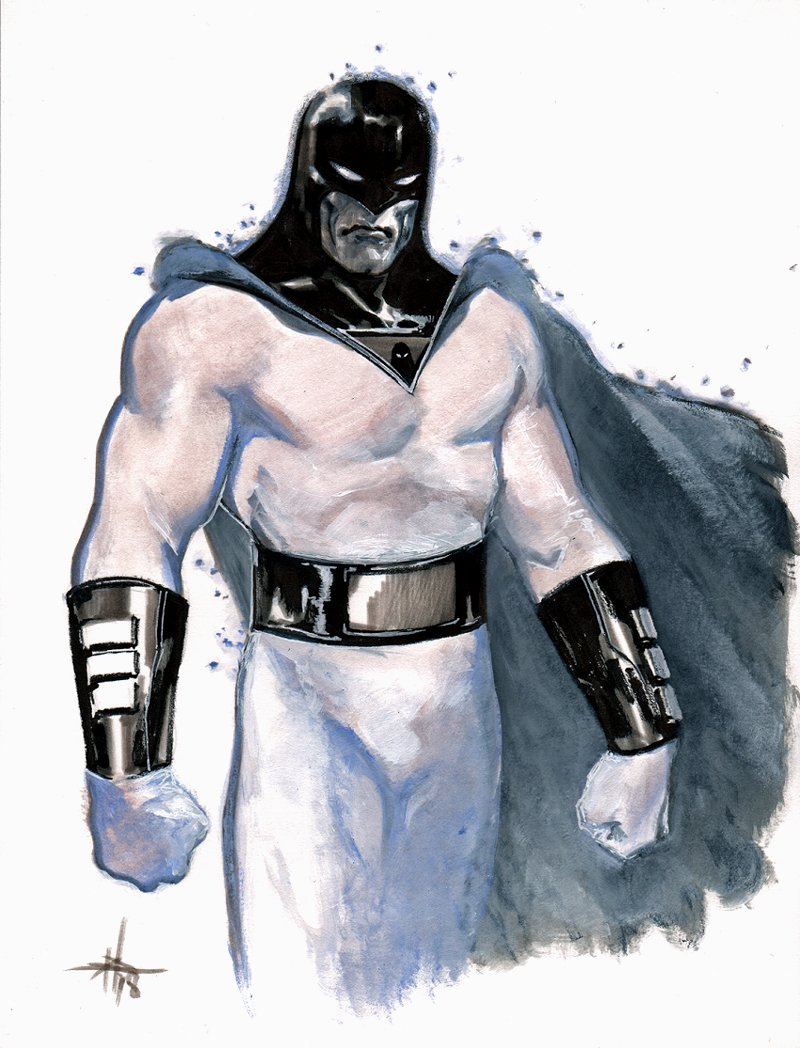 Space Ghost Mixed Media Commission