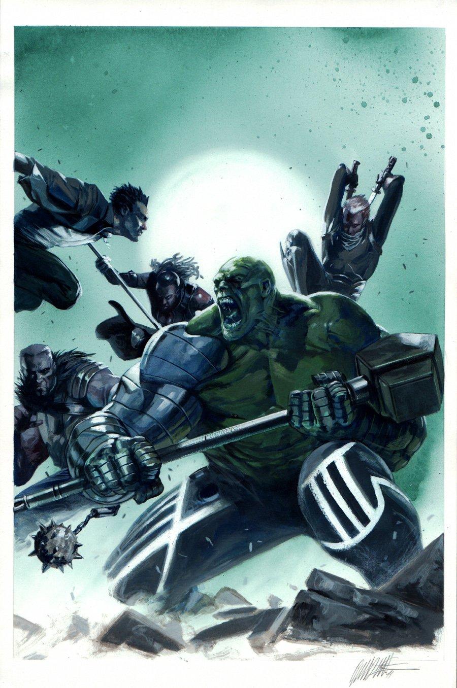 Fear Itself: Hulk vs. Dracula #2 Cover Painting (2011)
