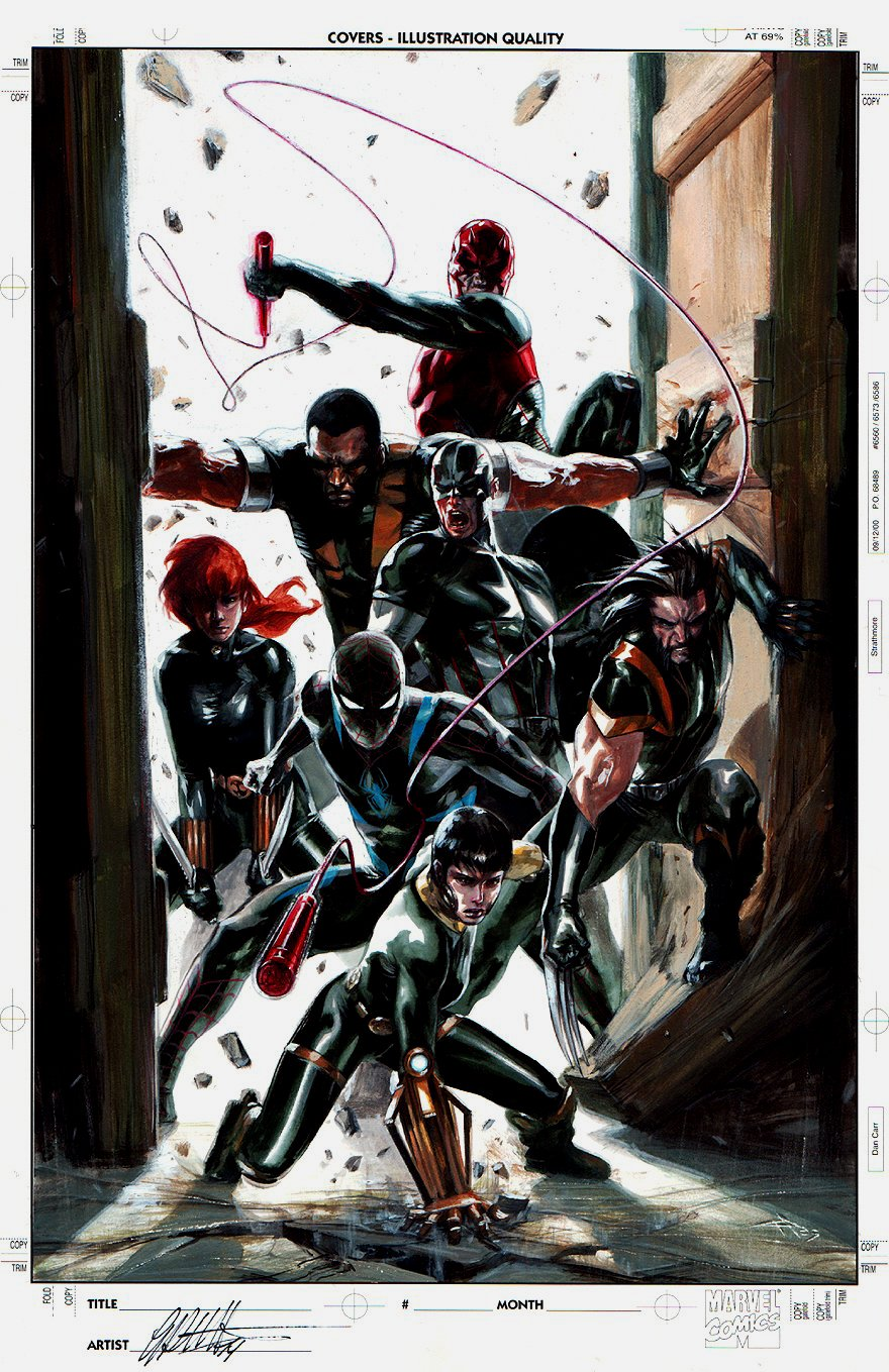 Secret War TPB Cover Painting (2009)
