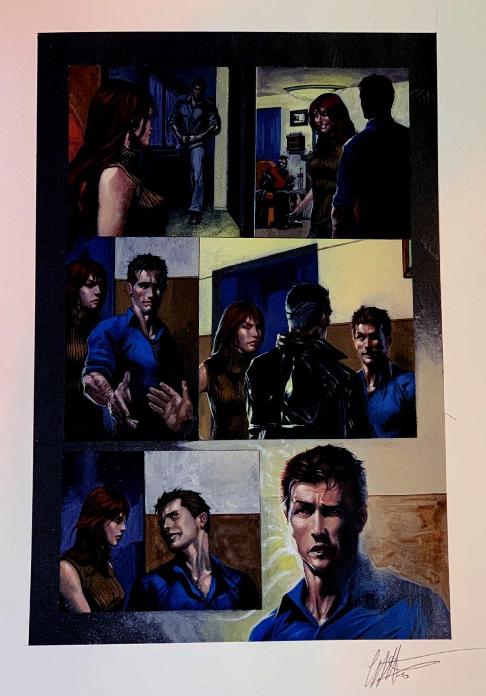 Secret War #2 p 8 Painting (2004)