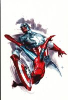 Spider-Man / Captain America Published Painting (2011) Comic Art