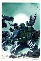 Fear Itself: Hulk vs. Dracula #2 Cover Painting (2011) Comic Art