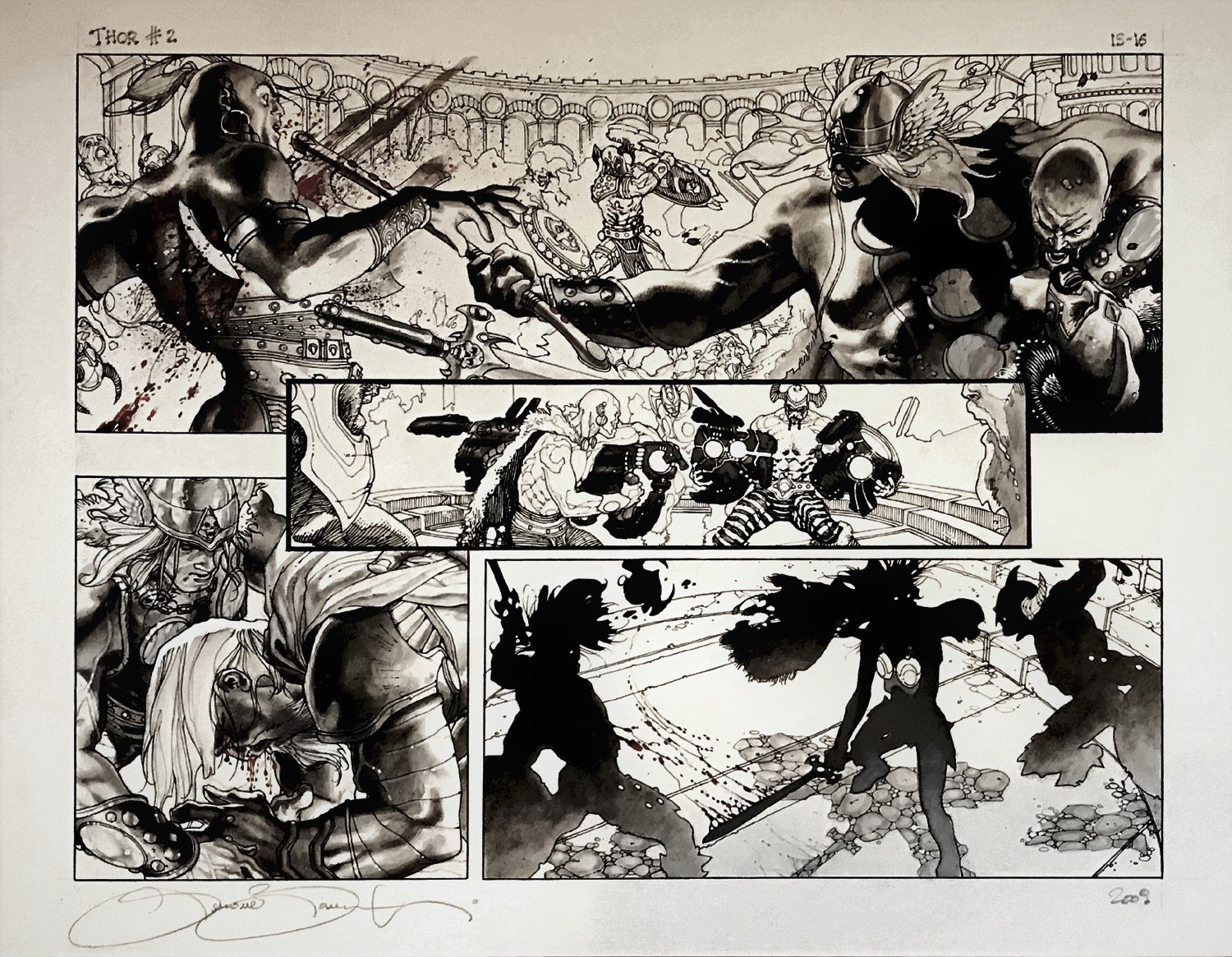 Thor: For Asgard #2 p 15-16 Double Page Spread (Very Large) 2010