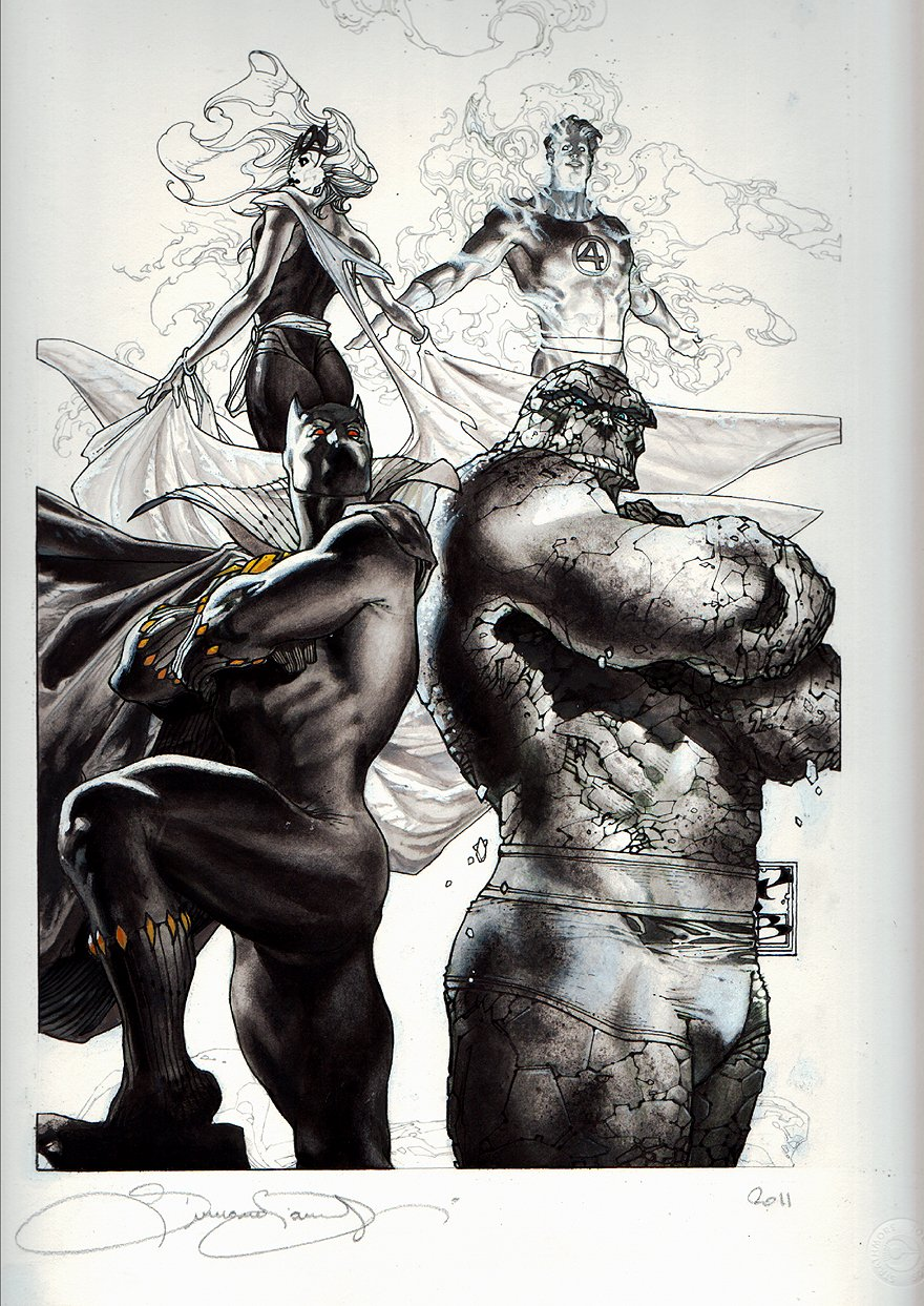 X-Men Giant-Size #1 Cover, FF 50th Anniversary Cover (BLACK PANTHER -Large Art) 2011