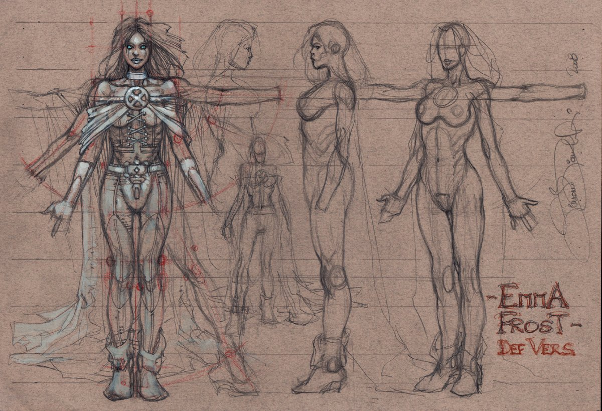 Emma Frost Very Sexy Anatomy Style Guide Pinup (2008)