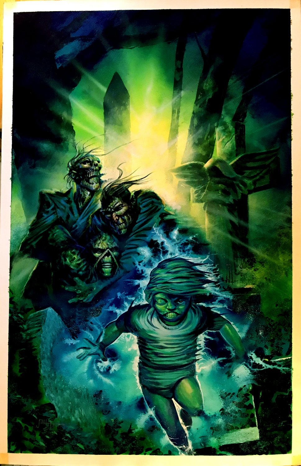 Swamp Thing #125 Painted cover (Very Large) 1992
