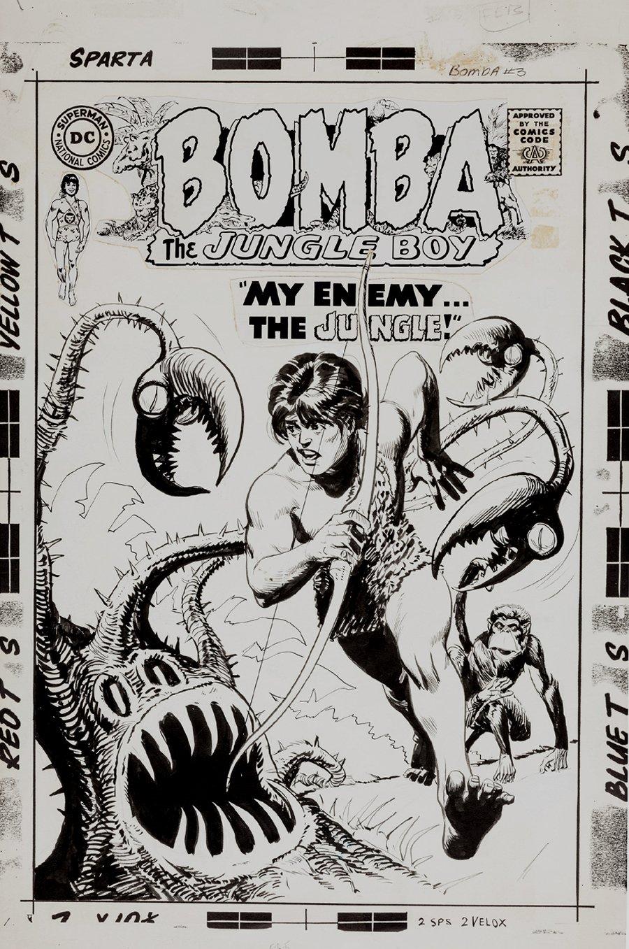 Bomba the Jungle Boy #3 DC Cover (Large Art) 1967