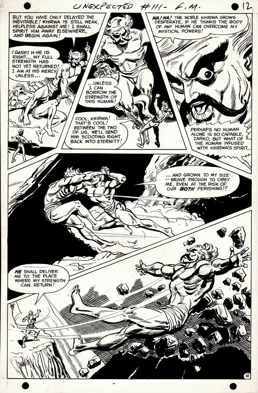 The Unexpected #111 p 10 (JOHNNY PERIL BATTLE PAGE) 1968